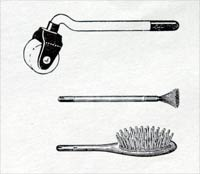 Roller, Wire Brush and Hair Brush (quite rare)